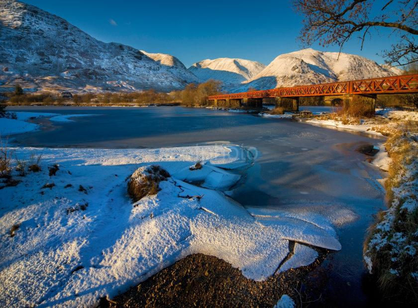 Railbridge Head Of Loch Awe From Icy Shore 3
