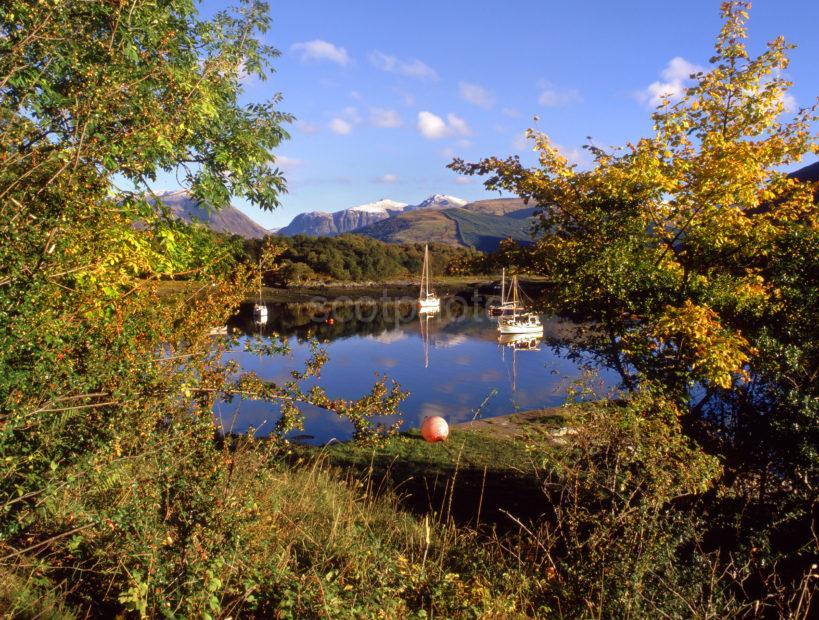 Autumn Amongst The Glencoe Hills From Bishops Bay Ballachulish