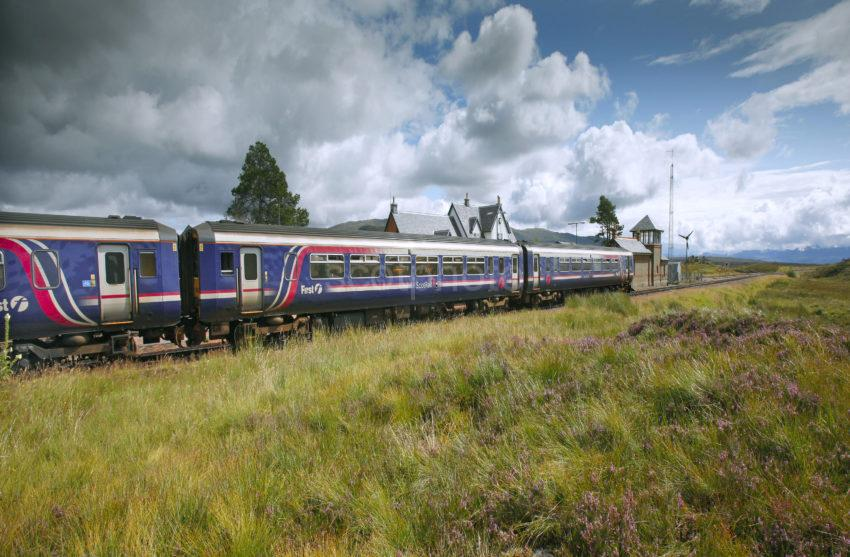Sprinter At Currour Station West Highland Line