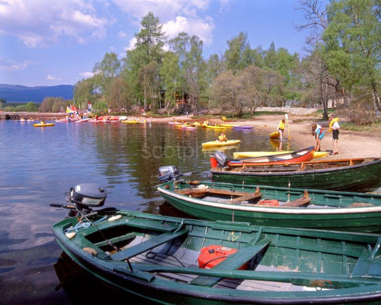 Busy Boating Scene On Loch Insh