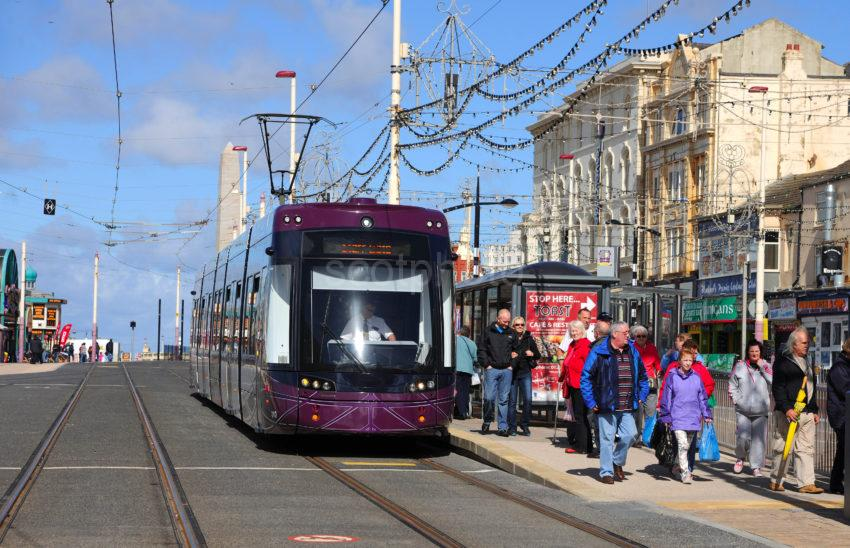 New Tram Near North Pier