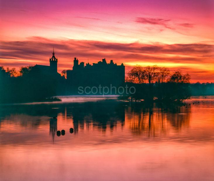 Linlithgow Palace Sunset West Lothian