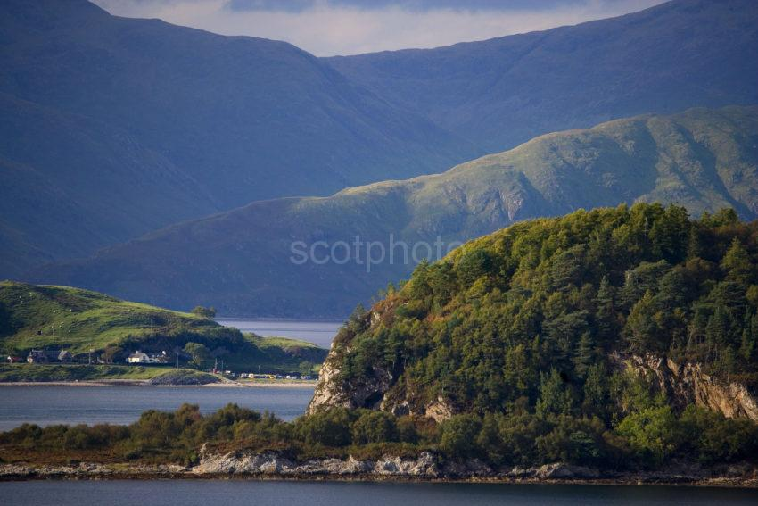 WY3Q0124 Dramatic Shot Port Appin And Morvern Hills