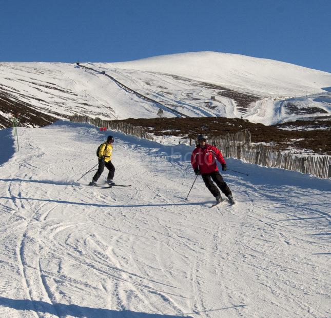 Two Skiers On Cairgorms Aviemore