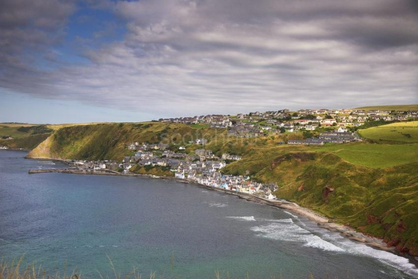 View Of Gardenstown From Church Ruins