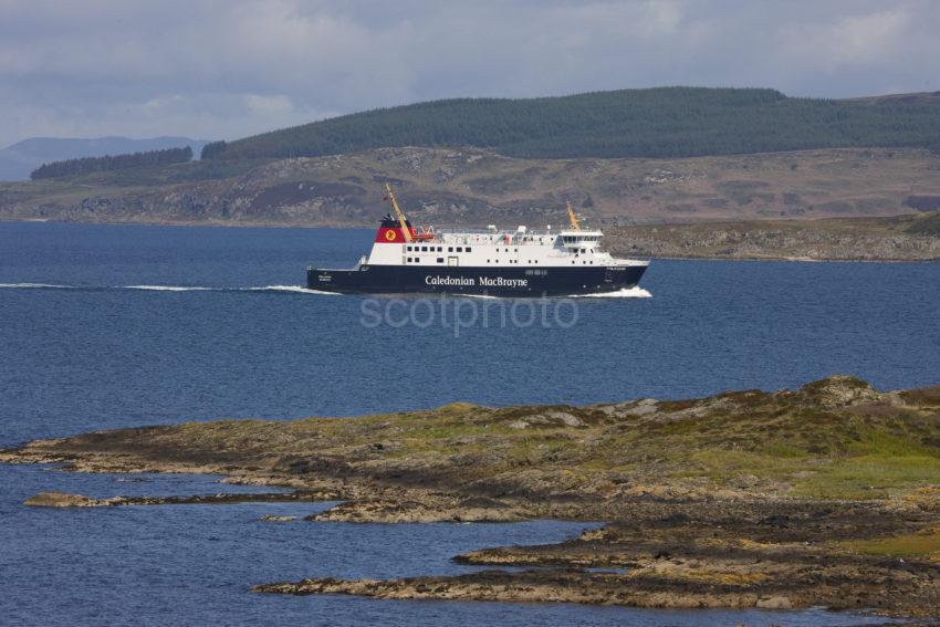 MV Finlaggan Approaches West Loch Tarbert From Islay