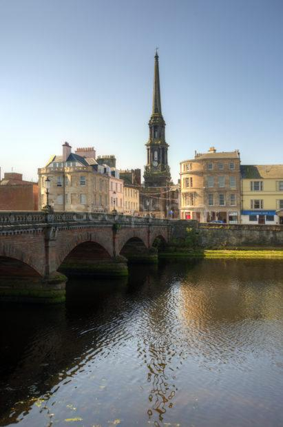 PORTRAIT OF AYR FROM THE OLD BRIDGE