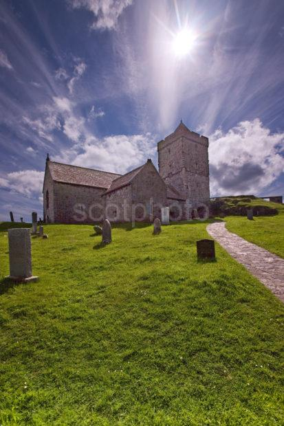 Silhouette Of St Clements Church Rodel South Harris