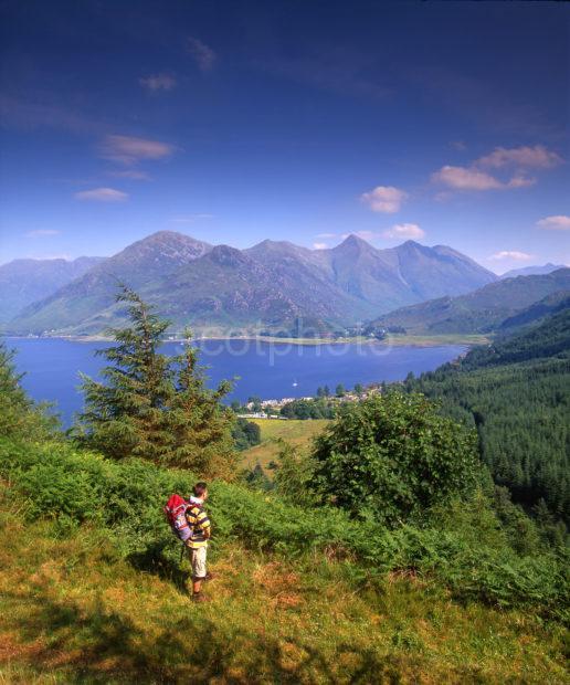 Hiker Above Loch Duich