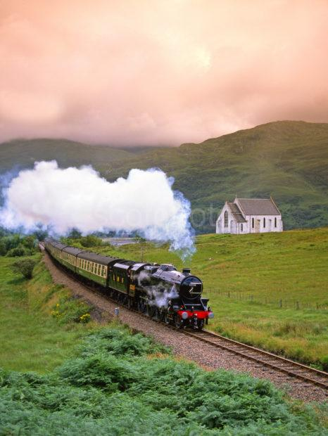Black 5 Steam Loco On Fort William Mallaig Line