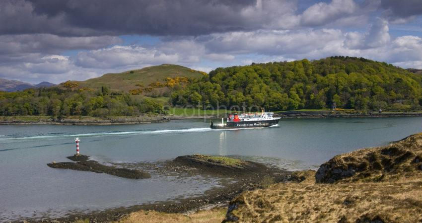 Lotti Passes North End Of Kerrera And Dunollie Castle