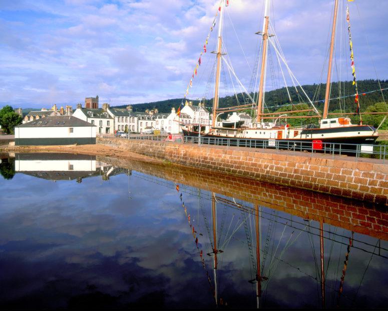 Tall Ship Museum In Inveraray From Pier Loch Fyne