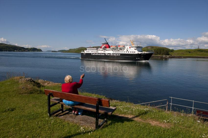 MV ISLE OF MULL PASSES DUNOLLIE OBAN BAY