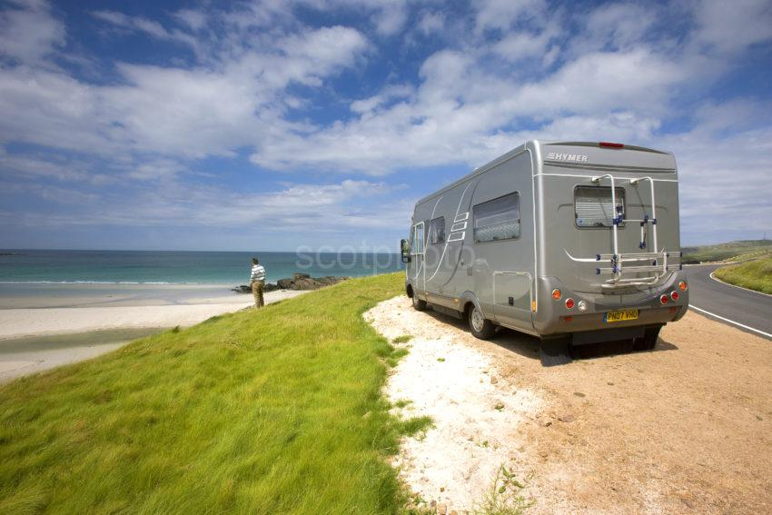 Tourist With Mobile Home On Barra 1