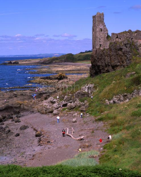 Ruins Of Dunure Castle From South Dunure Ayrshire