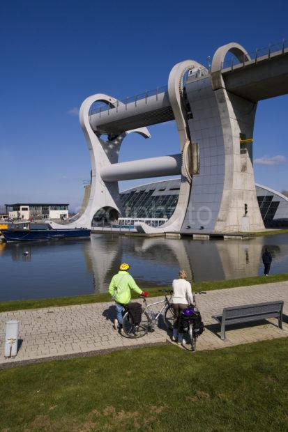 Cyclist Watch The Falkirk Wheel