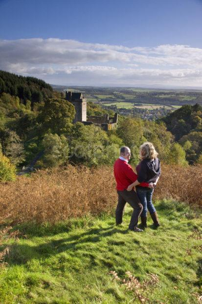 Couple Enjoy The Moment At Castle Campbell