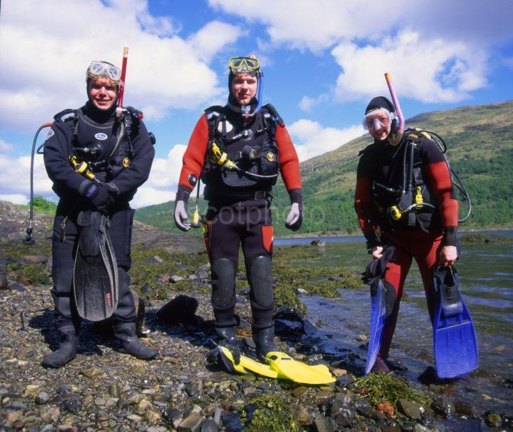 Divers On Loch Creran Argyll