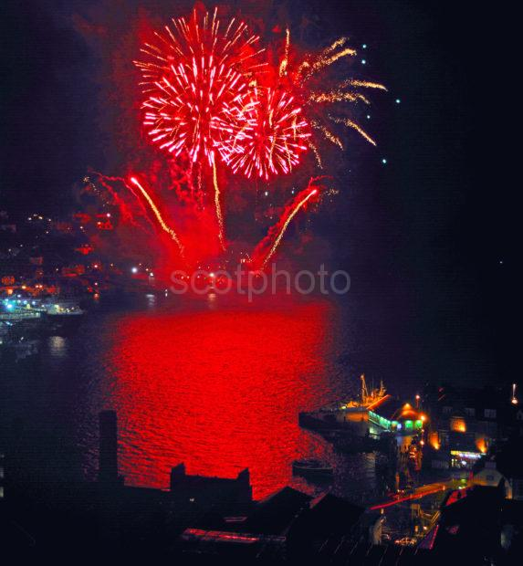 Oban Fireworks From Maccaigs Tower