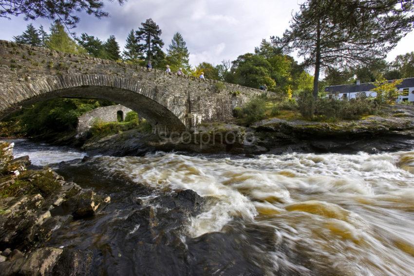 Unusual Shot Of Falls Of Dochart In Killin Perthshire