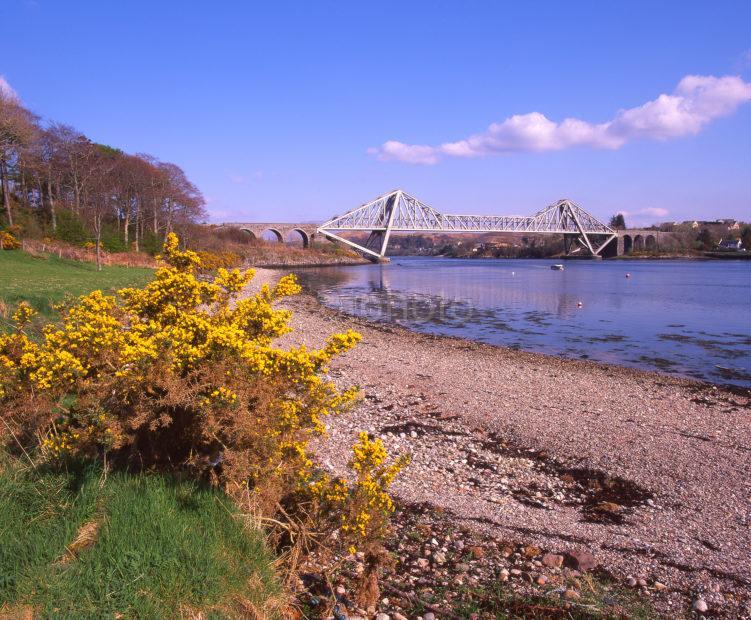 A Colourful Springtime View Towards Connel Bridge Argyll