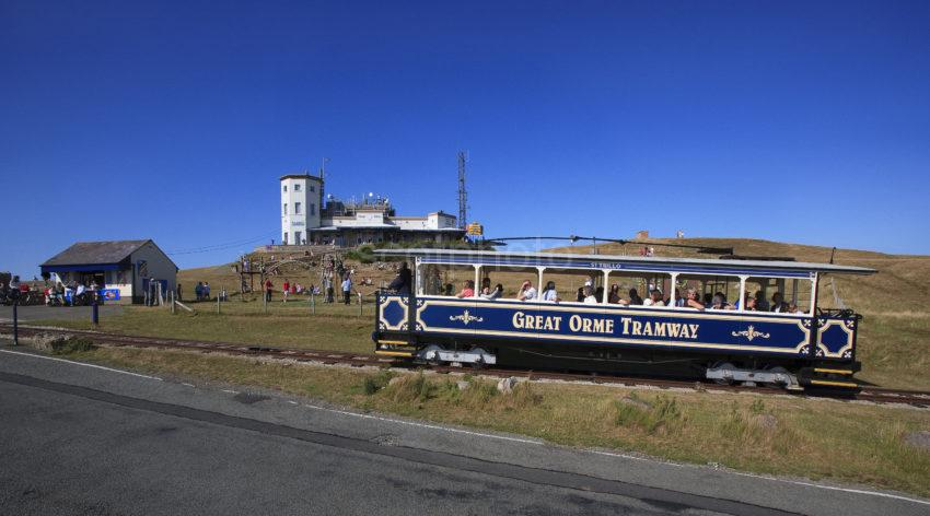 Great Ormes Head With Tram