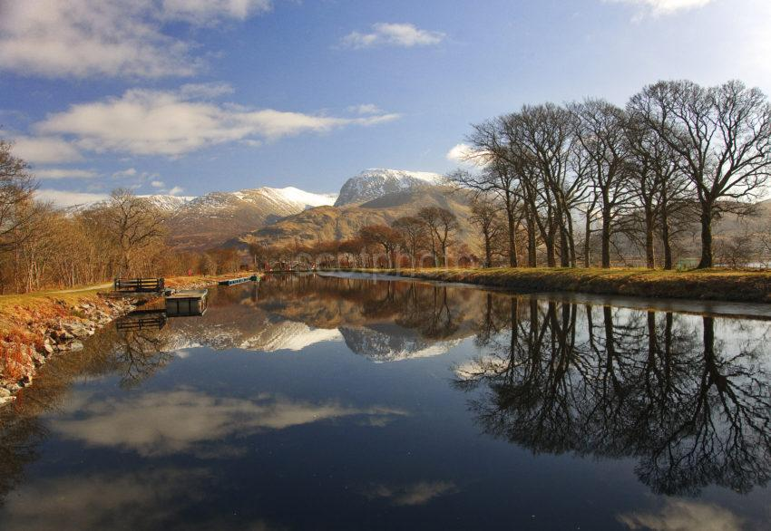 Ben Nevis Reflections In Cal Canal