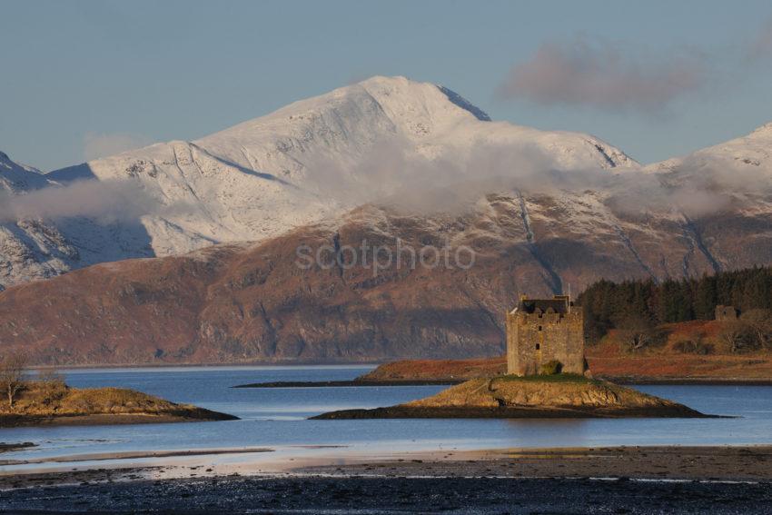 DSC 0321 Castle Stalker And The Morvern Hills From Appin Argyll Web