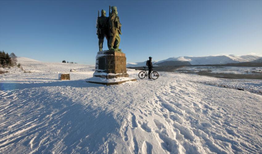 Spean Bridge Commando Memorial In Snow