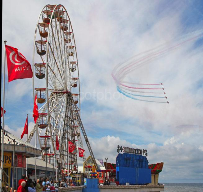 Red Arrows And Big Wheel