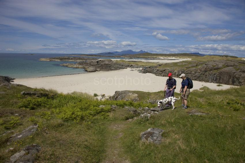 Panoramic Sanna Bay Ardnamurchan With Rum