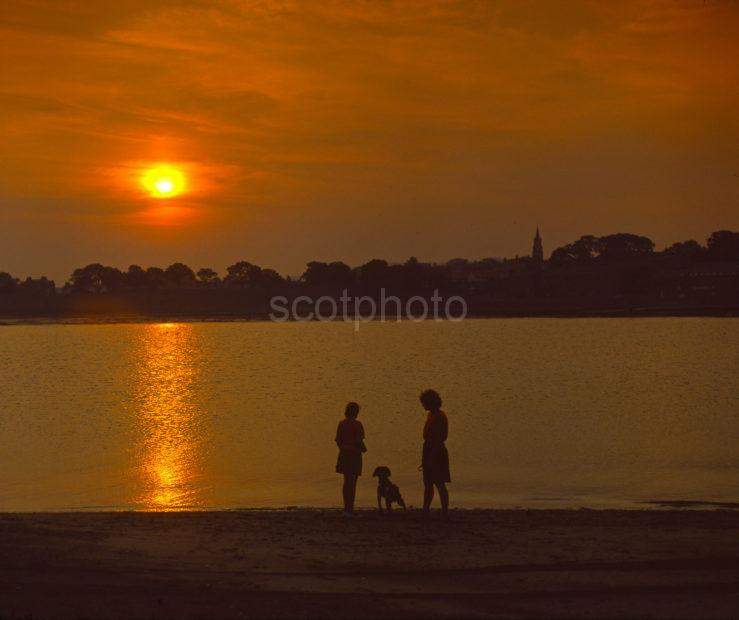 Sunset From The Sands Of Spittal Berwick On Tweed Scottish Borders