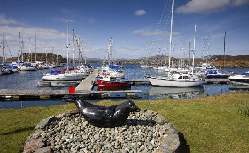 Yachts At Craobh Haven Argyll