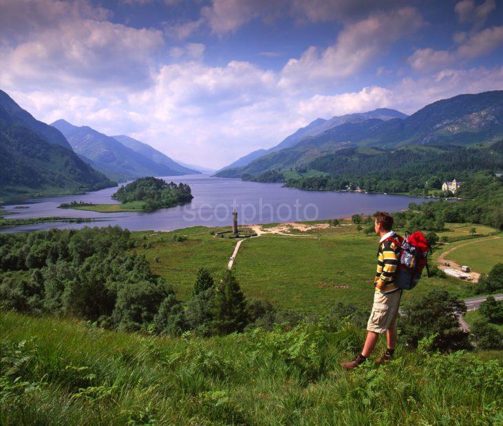 47mb Hiker Above Loch Shiel Glenfinnan