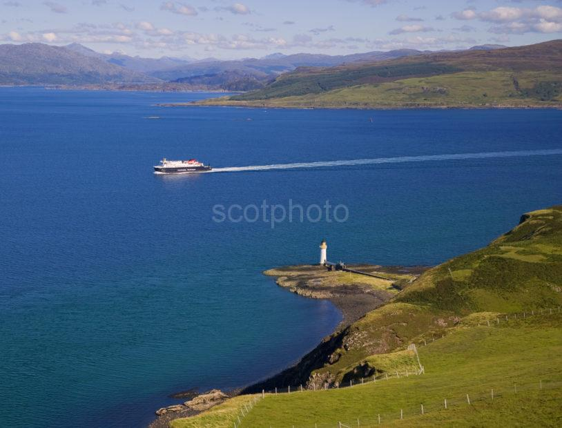 The Clansman Passes Tobermory Lighthouse En Route To Barra