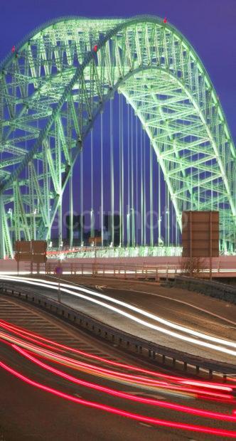 Runcorn And Widnes Bridge Dusk