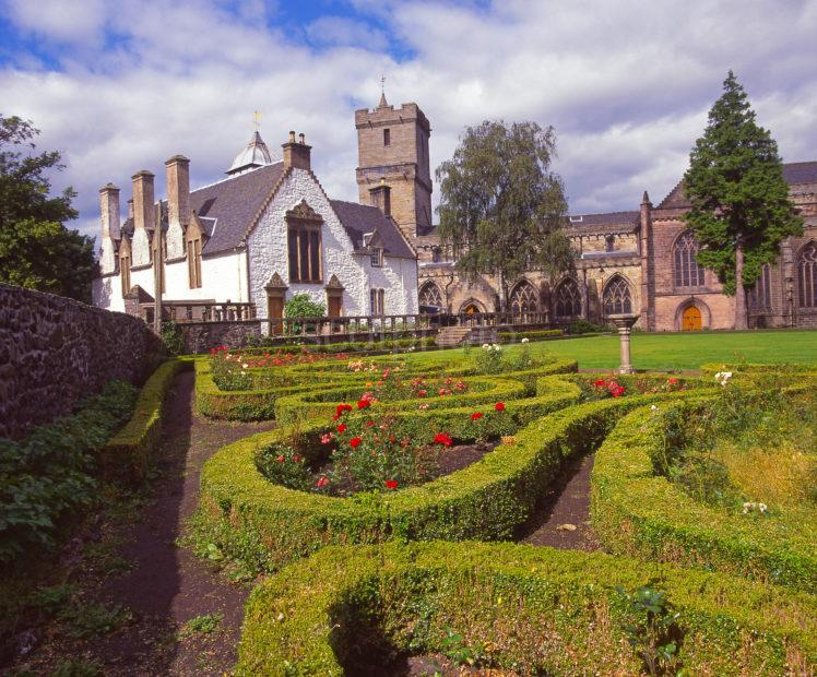 Summer View From The Old Cowanes Hospital Garden With Church Of The Holrude In View Stirling