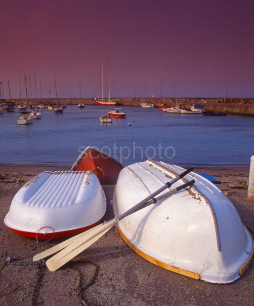 Colourful View Of Musselburgh Harbour Near Edinburgh East Lothian