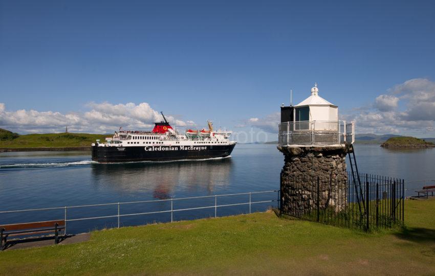 MV Isle Of Mull Passes Dunollie Light Oban 2012