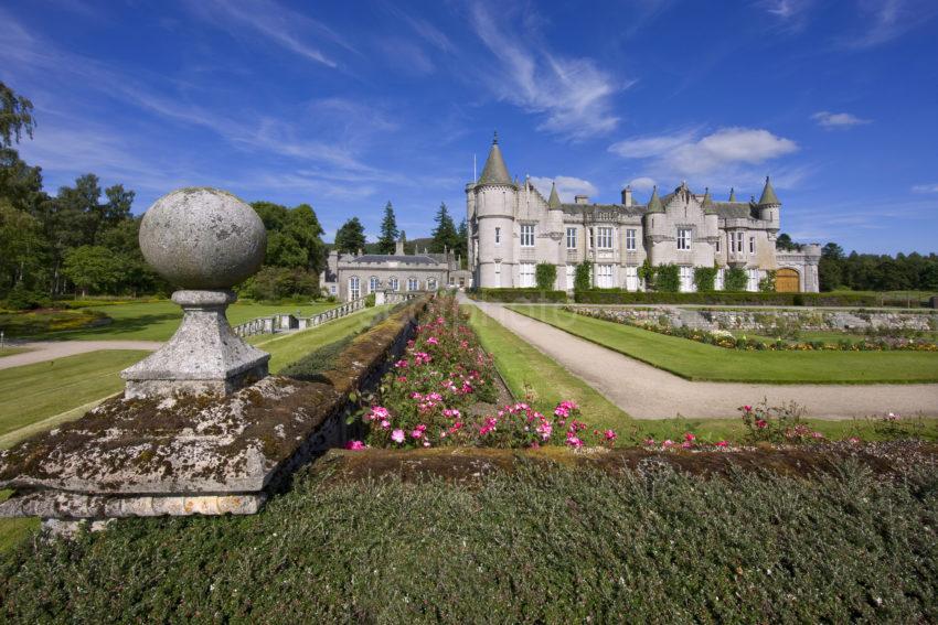 0I5D0143 Balmoral Castle From Walled Garden Aberdeenshire