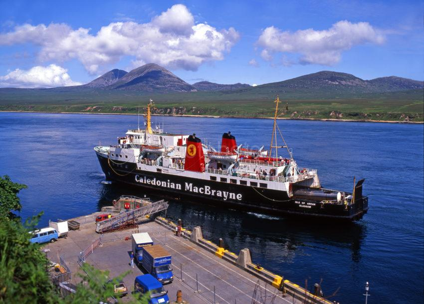 I295 MV Isle Of Arran At Port Askaig Pier Islay With Paps Of Jura