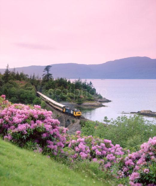 Class 37 Hauling West Highlander Past Loch Carron Kyle Line
