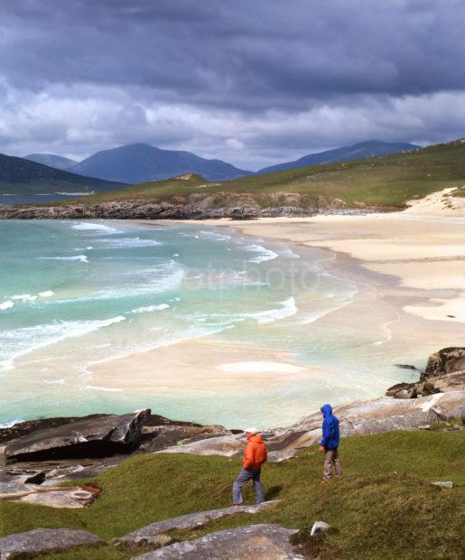 South Harris Scene Two People And White Beach 50MG