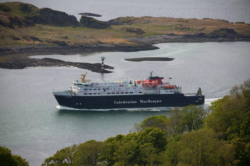 CLANSMAN PASSES DUNOLLIE AND KERRERA