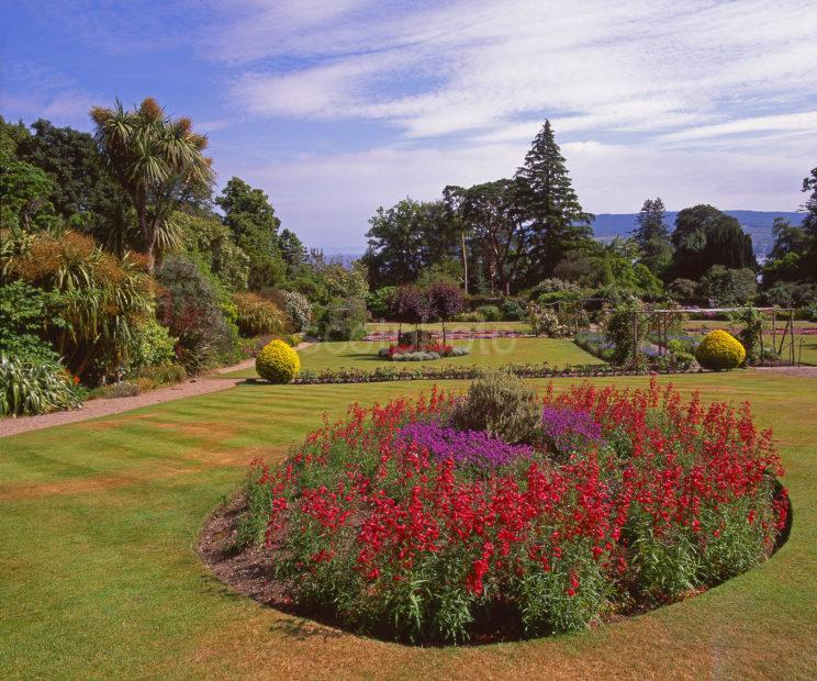 Colourful Scene In Brodick Castle Gardens Isle Of Arran