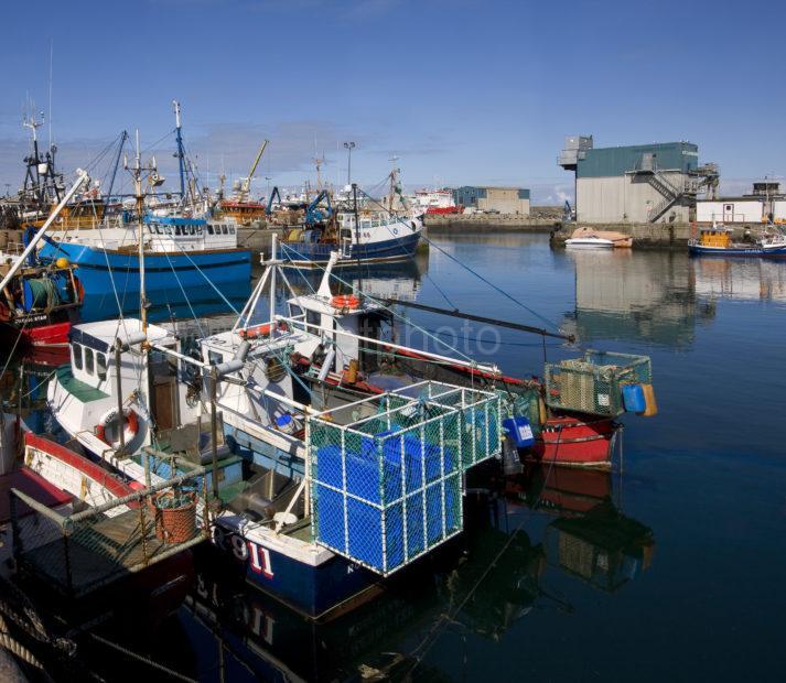 Colourful Scene In Fraserburgh Docks