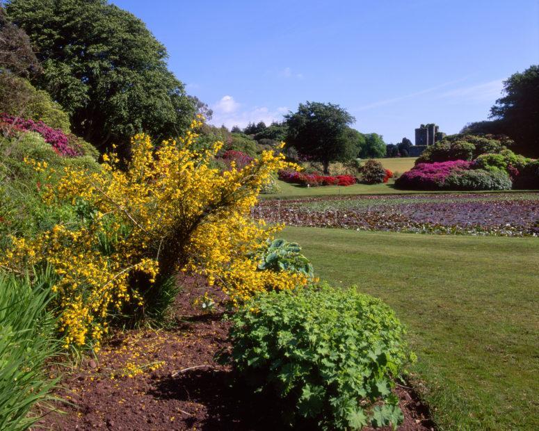 Springtime In Castl E Kennedy Gardens Towards Castle Across Lake