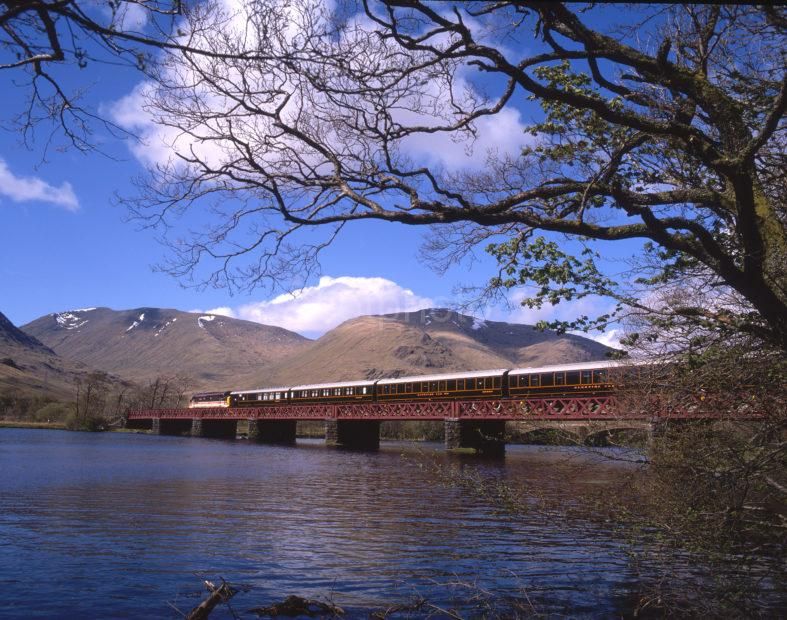Class 37 409 Hauling Royal Scotsman Across Loch Awe May 1989