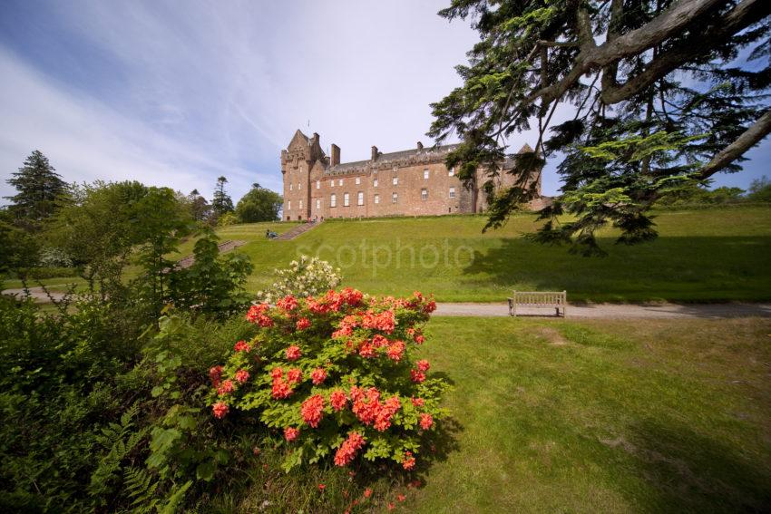 I5D2067 Brodick Castle From Lower Gardens Arran