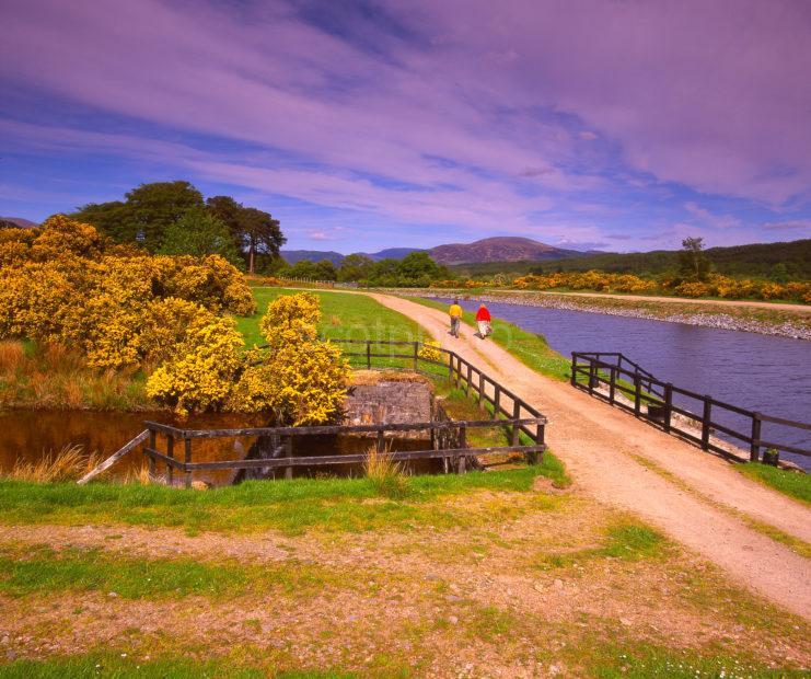 The Caledonian Canal Near Moy Bridge Glen Albyn Lochaber